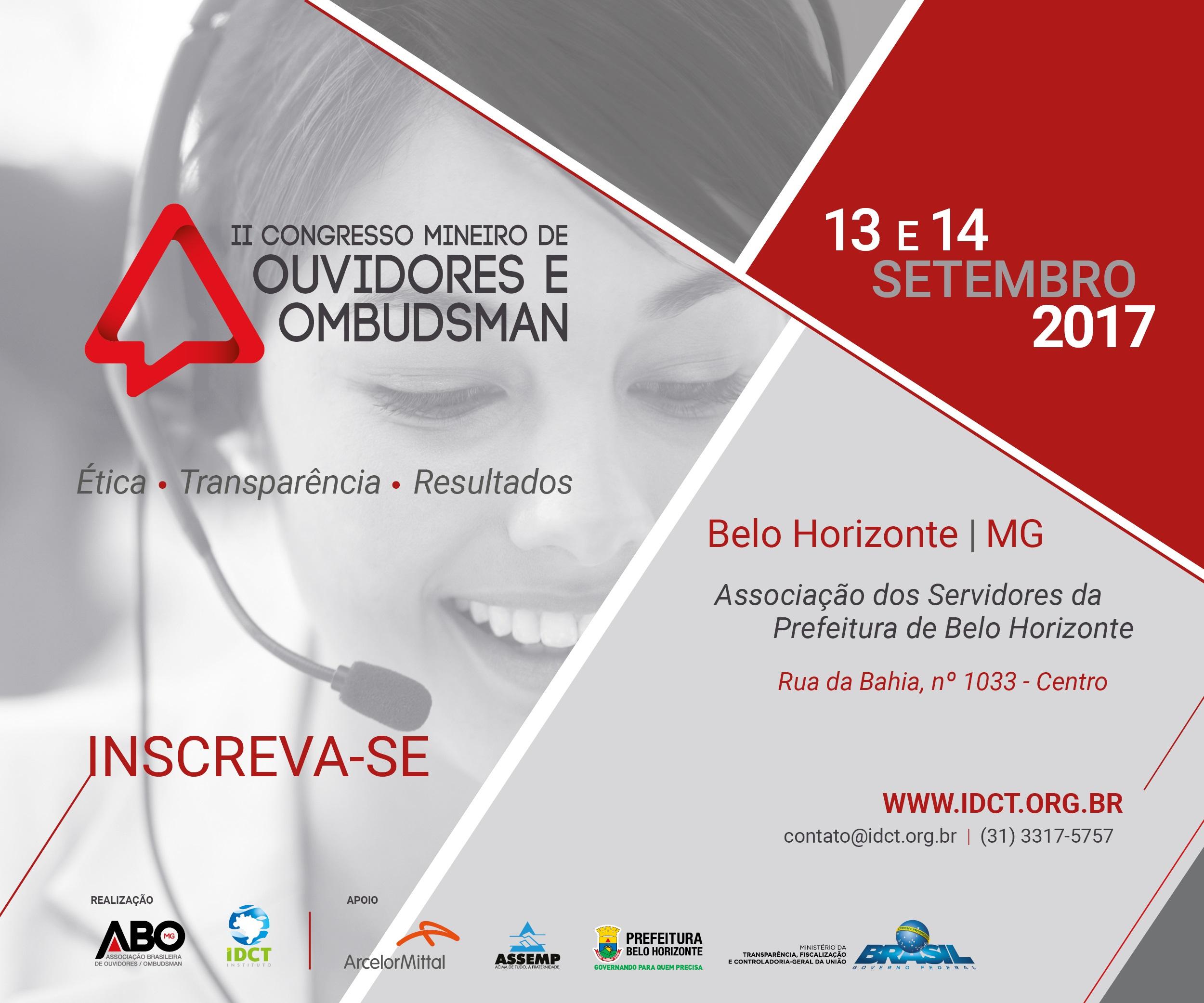 II Congresso Mineiro de Ouvidores e Ombudsman