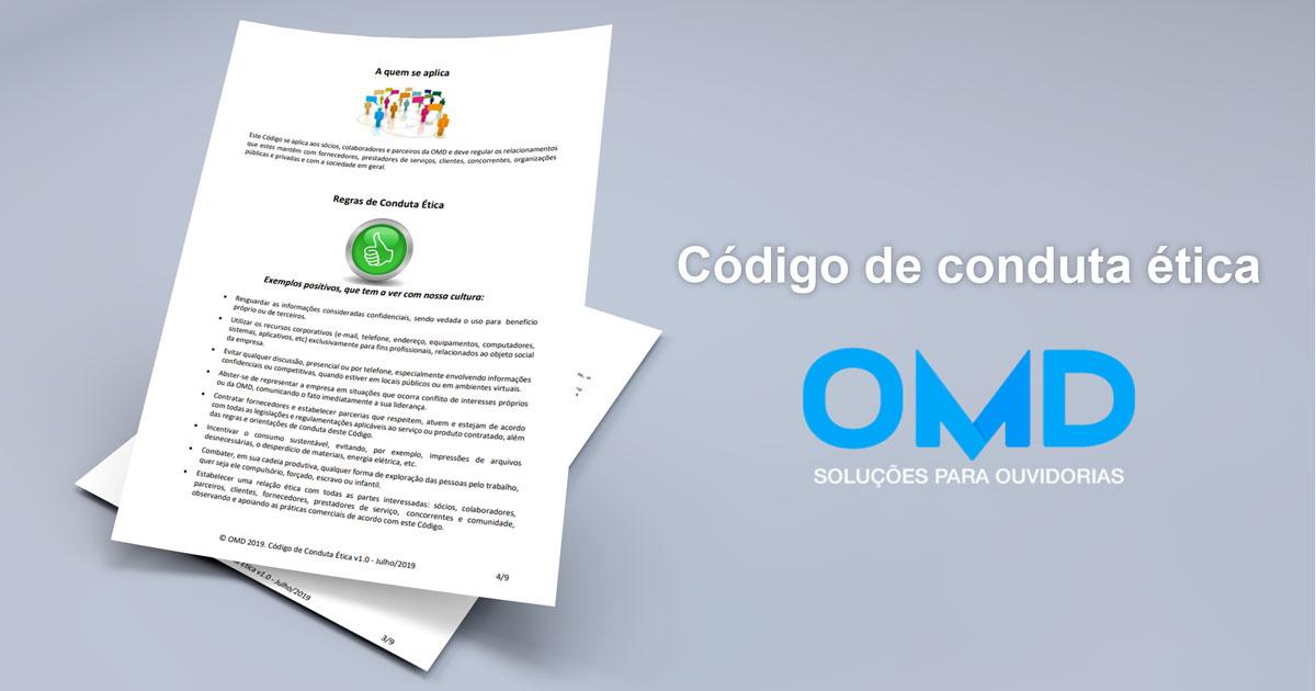 código de conduta OMD