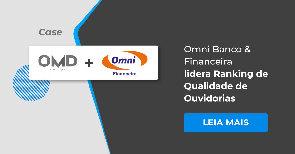 Omni Banco & Financeira lidera Ranking de Qualidade de Ouvidorias